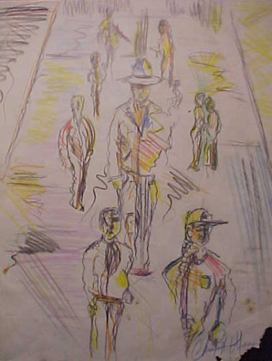 Apparitions of the Mall (Sketch)