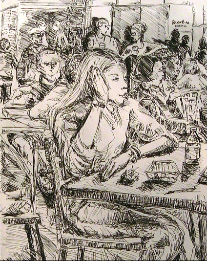 Girl in Cafeteria