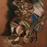 Guitarist on Stool