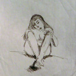 Ink of Sitting Nude