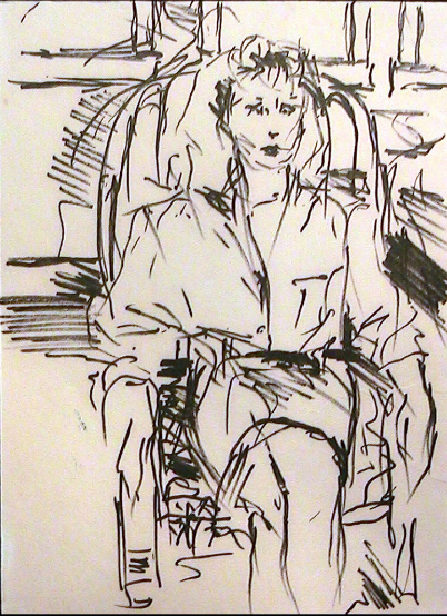 Study of Thalia in Chair