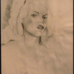 Pencil Study of Young Woman
