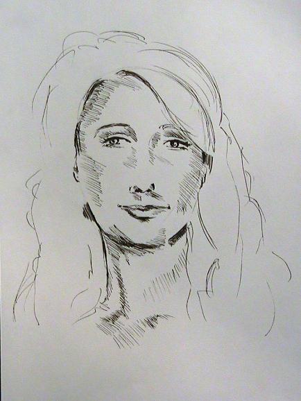 Sketch of Blonde Woman