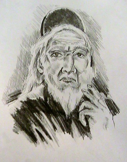 Sketch of Old Priest
