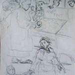 The Market In Argenta (sketch)