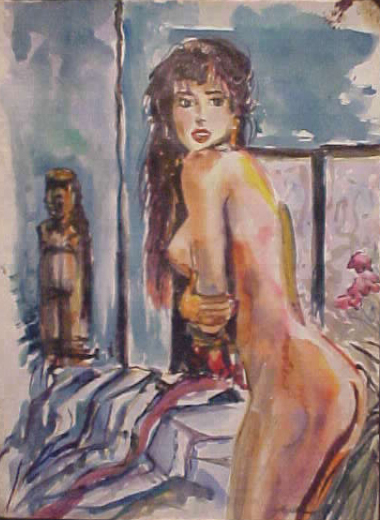 Watercolor Nude 3