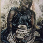 Woman Making a Pot