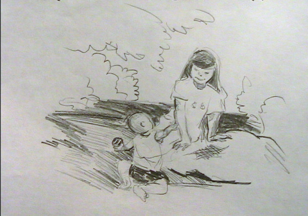 Young Girl with Toddler