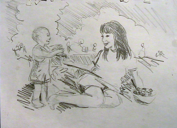 Young Girl with Toddler 2