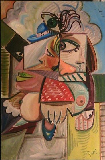 Woman in Blue Hat